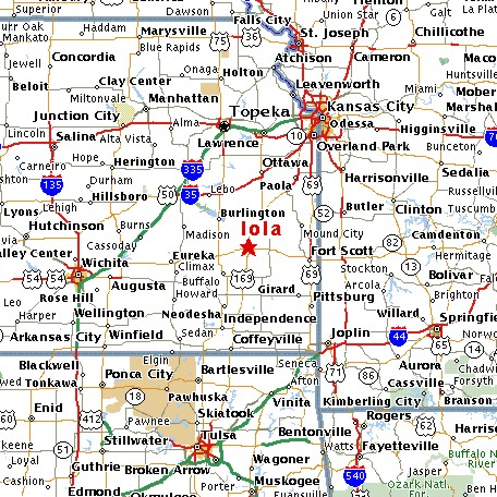 Click for Iola Map